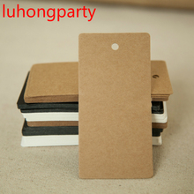 50pcs 5*10cm Antique white black Paper Gift Cards/Tags with Swirl Edges for Wedding Decoration Card Scrapbooking Crafts