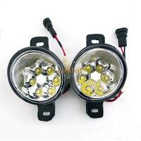 July King 18W 6LEDs H11 LED Fog Lamp Assembly Case for Nissan Platina 2002 2010 Mexico, 6500K 1260LM LED Daytime Running Lights