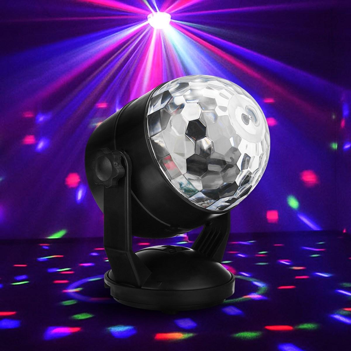 Magic Ball Auto LED RGB Stage Light Voice Sound Control Night Lamp USB Battery Power Disco Crystal DJ Club Bar Party Decor mlb 3 magic ball style 4w auto rgb led stage light black ac 90 240v