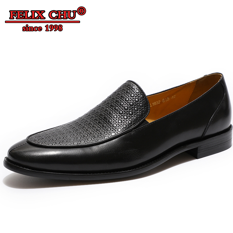 Men Casual Shoes Genuine Leather Dress Shoes Men Formal Shoes Brown Black Slip on Fashion Wave Points Pointed Toe Man Dress Shoe in Formal Shoes from Shoes