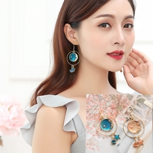 Hot Style Star Earrings Fantasy Stars Moon Personality Temperament Go with