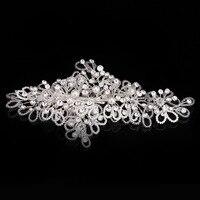 Handmade Flower Pearl Hair Clip Crystal Pearl Hairpin Silver Bridal Hair Accessories Hair Tiara Wedding Jewelry