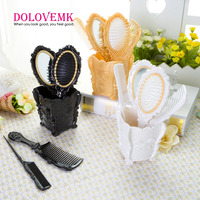 Professional New Arrival Travel Styling Tools Cosmetic Classical Make Up Hand Salon Hair Brush Comb Set
