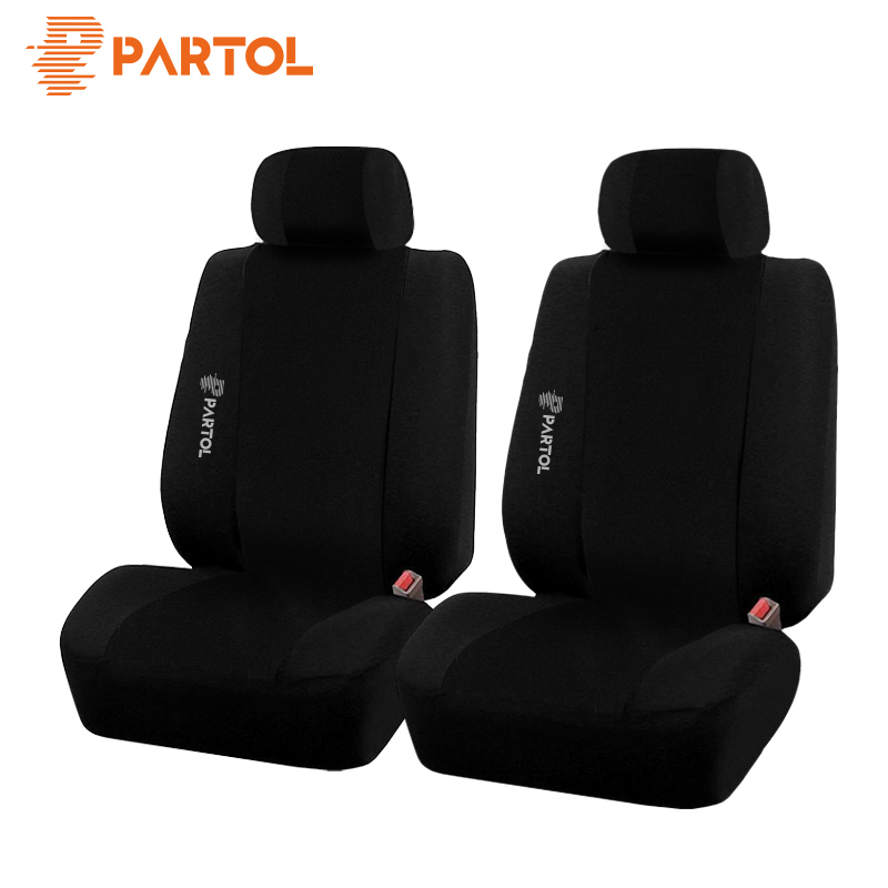 Partol Car Styling 2pcs Car Seat Covers Front Automobiles Seat Cover Breathable Inner Accessories Universal Car Seat Protector