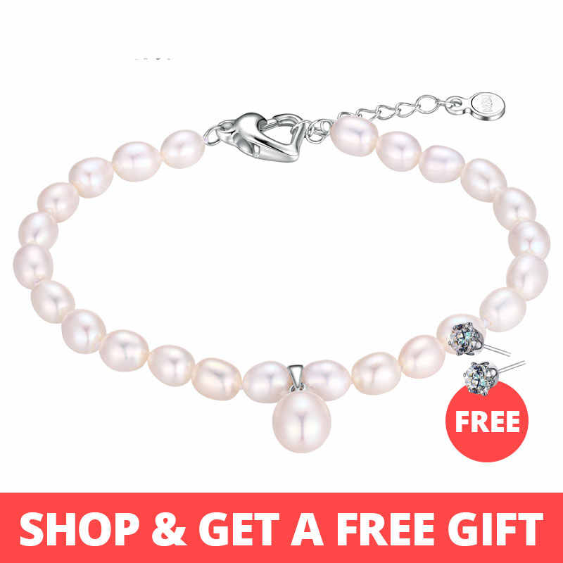 Dainashi 2017 new arrival natural freshwater pearl bracelet fine jewelry for women chain pearl jewelry adjustable bracelet