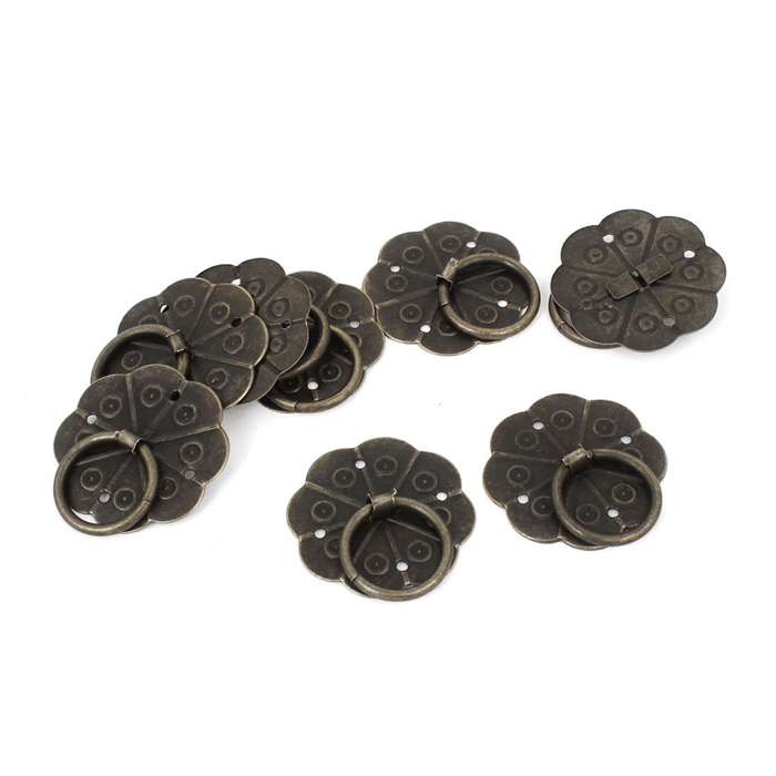 Bronze box handle 30mm round flower knob, Chinese Classical ...