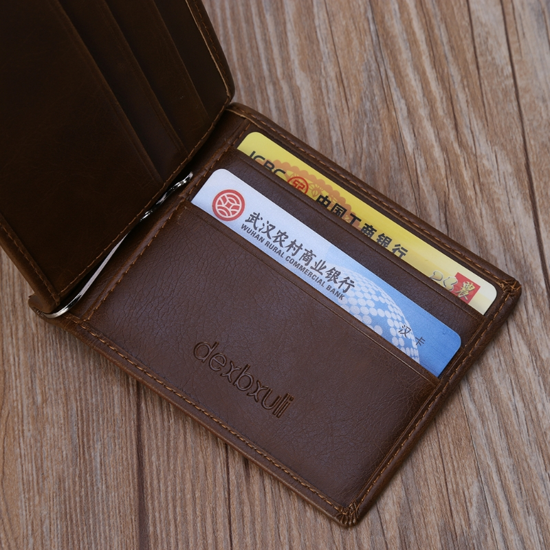 New Fashion Men Wallet Slim Luxury Business Leather Wallet Credit Card Holder Gifts Mini Short Card Holders