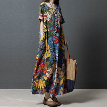ARANSUE 2019 new Retro Literature and Art Ethnic style Women