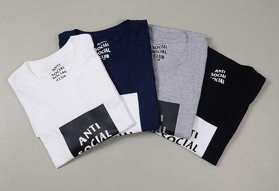 Spring ANTI SOCIAL CLUB Sweatshirts Mens Hip Hop Streetwear t shirt Short Sleeve  Cotton Casual KANYE WEST Air Yeezy 2 For Sale