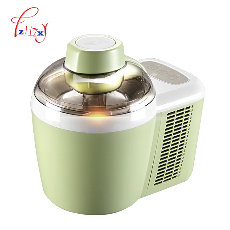 Home use automatic ice cream machine 600ML DIY fruit ice cream machine double insulation ice cream machine 220V 90W 1PC free shiping fried ice cream machine 75 35cm big pan with 5 buckets fried ice machine r22 ice pan machine ice cream machine