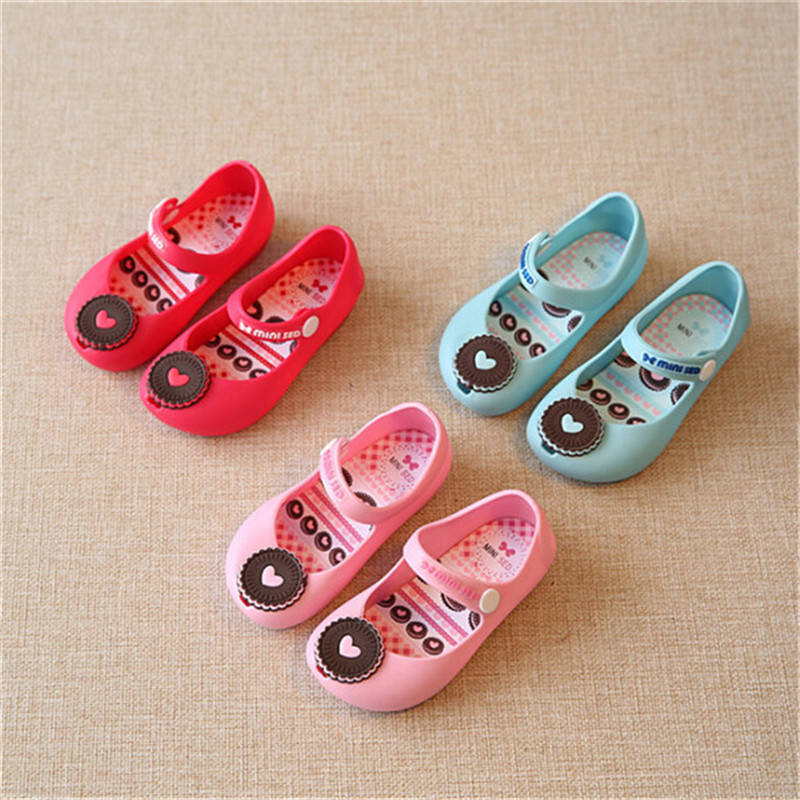 Jelly-Shoes Anti-Slip Soft-Soled Baby-Girl Shallow Summer for Candy-Colors Cookies-Pattern