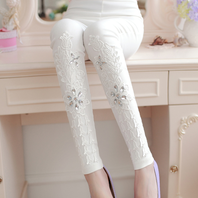 Fashion Women's   Leggings   Sexy Casual Laces Leg Warmer Fit Most Sizes Leggins Pants Trousers Woman's   Leggings