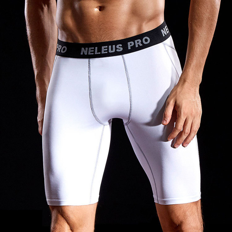 Mens Compression Shorts 2XL 3XL 90KG Male Fitness Casual Short Wear Under Base Layer Skinny Men Gym Sports Elastic White Legging