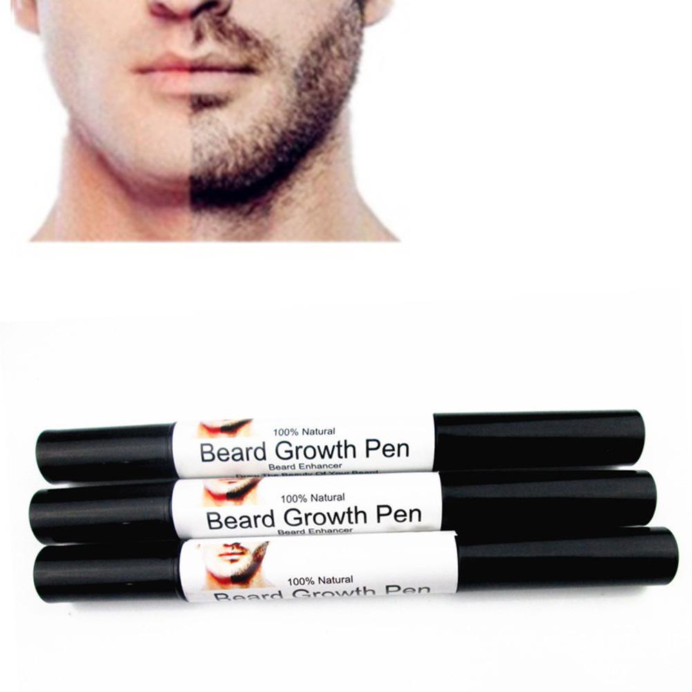 BellyLady Men Liquid Beard Growth Pen Beard Enhancer Facial Whiskers Nutrition Moustache Drawing Pen