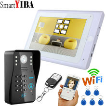 SmartYIBA Video Intercom 7 Inch Monitor Wifi Wireless Video Door Phone Doorbell Camera Intercom System APP