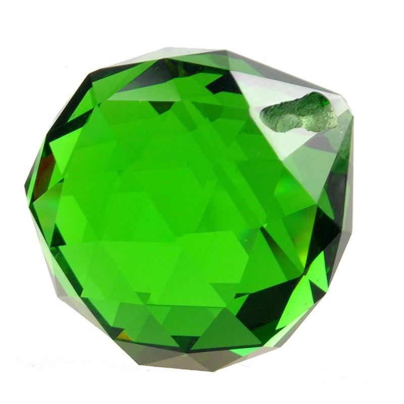 30mm skleněná koule 3ks / taška křišťálové přívěsky pro lustry 7 barev sklo visící část domů / svatební lampa ozdoby ozdoby