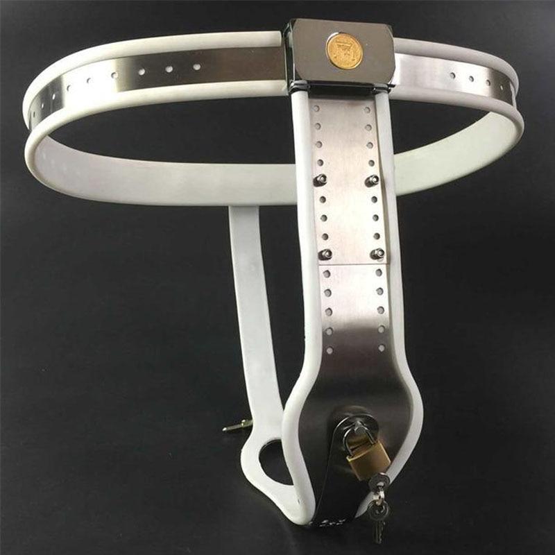 купить 2018 Special offer Stainless steel T type female chastity belt bdsm bondage fetish wear woman chastity panty sex games products по цене 4386.52 рублей