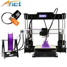 Anet 3D Drucker Autolevel und Normalen A8 A6 Einfach Montieren Reprap i3 3D drucker DIY Kit mit Filament 8 GB Sd-karte und Tools Große größe