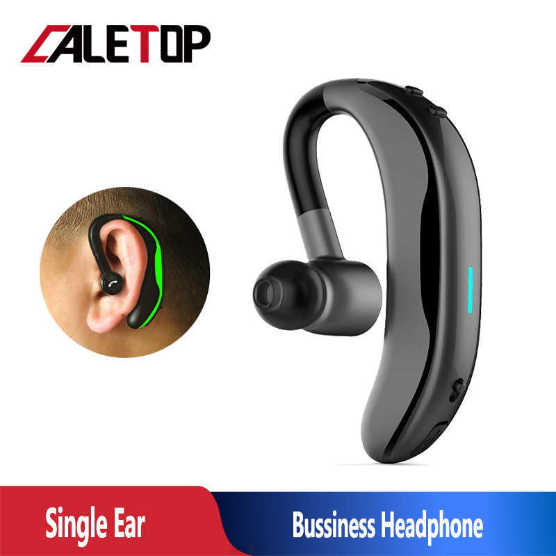 Caletop Bluetooth Headset Business Headphone V4 1 Stereo With Micphone Handsfree Calls Music Ear Hook Sports Earpiece For Iphone Bluetooth Earphones Headphones Aliexpress