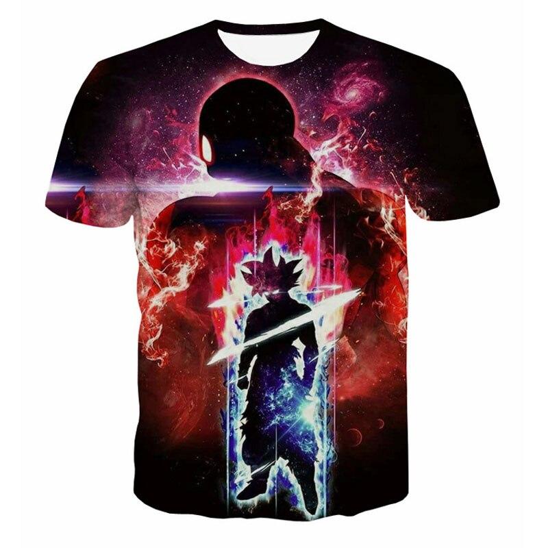 Dragon Ball Z T-shirt Herren Sommer T shirts 3D Druck Super Saiyan Schlacht Sohn Goku Schwarz Zamasu Vegeta Jiren Dragonball t Tops