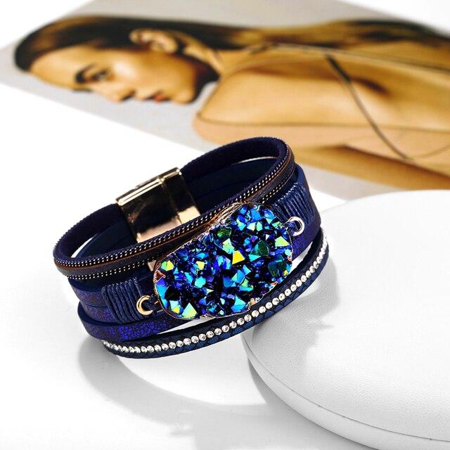 Big Stone Crystal Wrap Bracelets Bangles 2