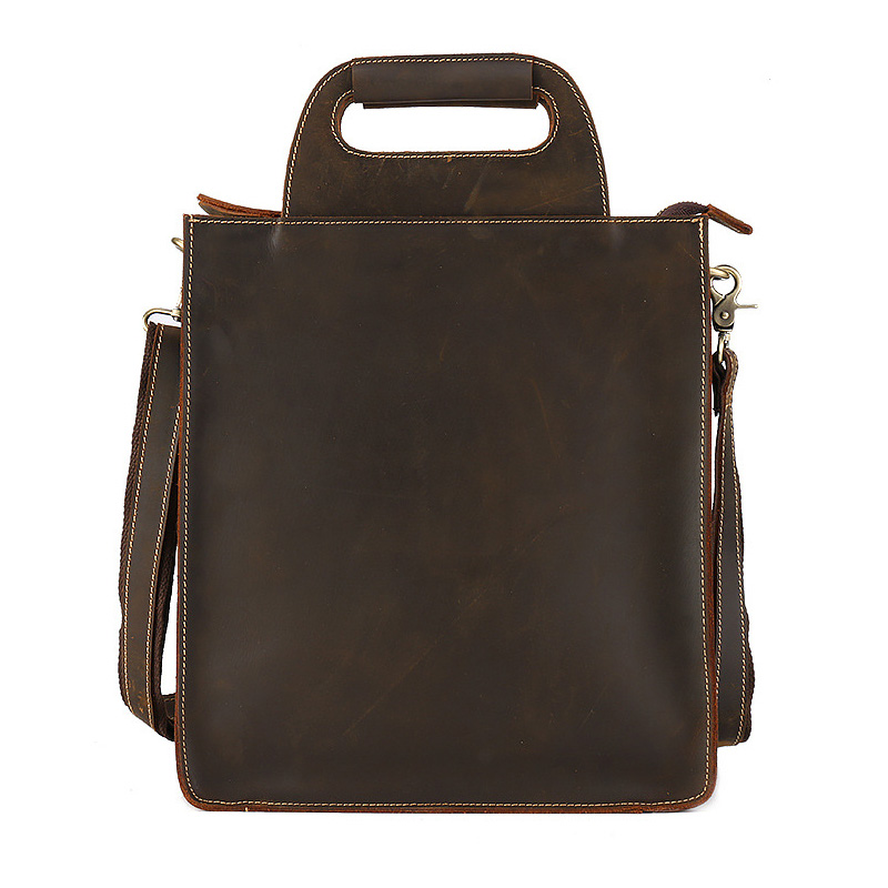 Leather hand-held Document Bag Cow Leather File Folder Paper Holder Office School Supplies folder cow leather small file bag mini document bag 17 10 4 5 cm joy corner page 10