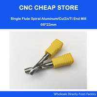 2pcs 5mm High Quality Carbide CNC Router Bits One Single Flute End Mill Tools 22mm Aluminum