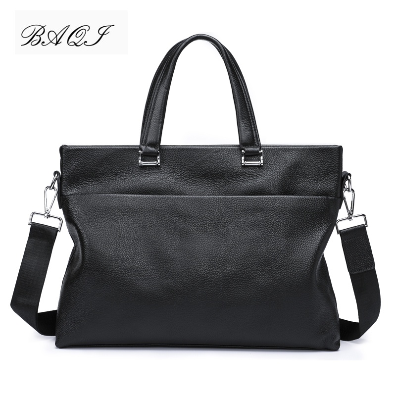 BAQI Brand Men Handbags Men Briefcase Bag Genuine Cow Leather 2019 Fashion Computer Business Bag Men Shoulder bags Messenger BagBAQI Brand Men Handbags Men Briefcase Bag Genuine Cow Leather 2019 Fashion Computer Business Bag Men Shoulder bags Messenger Bag