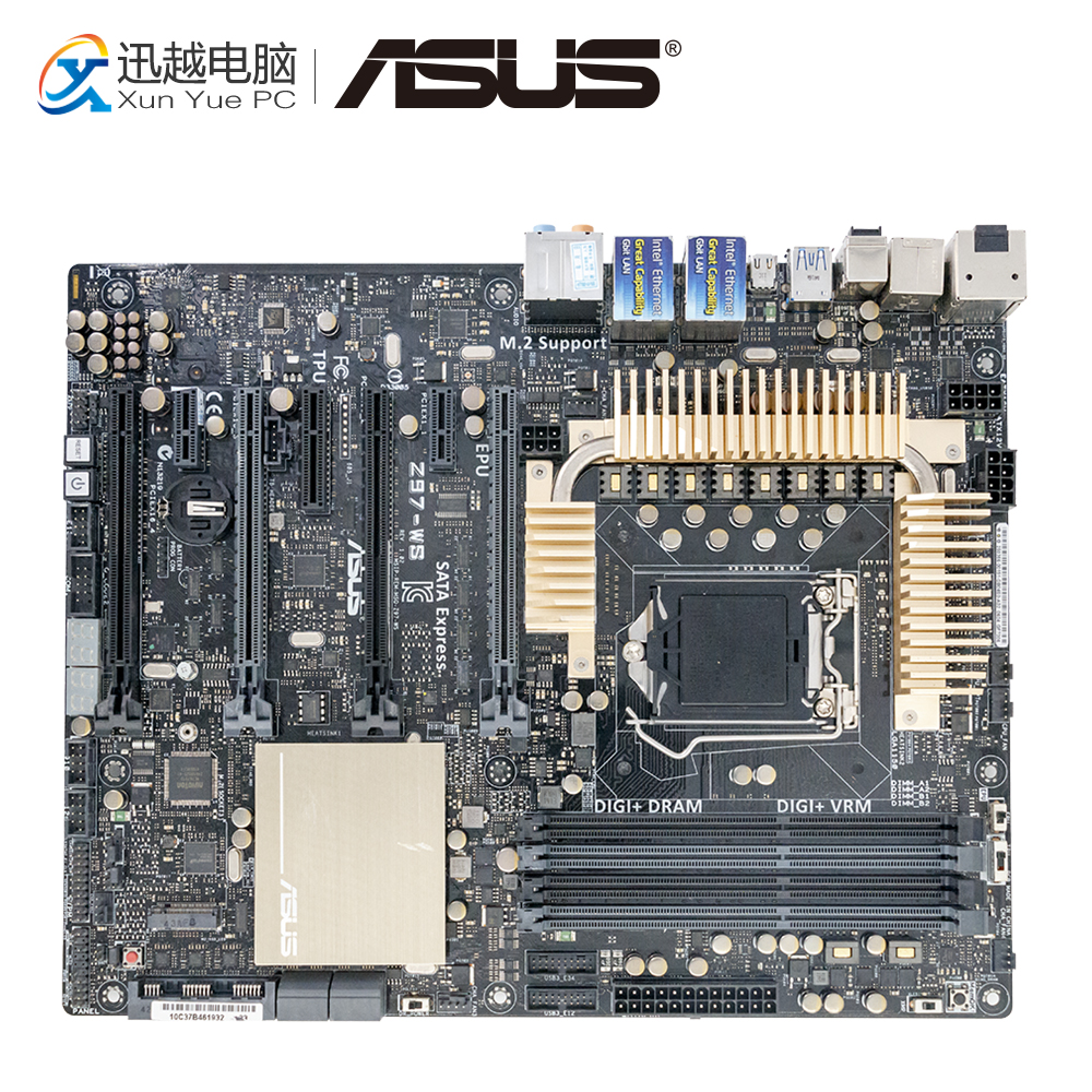 Asus Z97-WS Desktop Motherboard Z97 Socket LGA 1150 i7 i5 i3 DDR3 32G SATA3 USB3.0 ATX