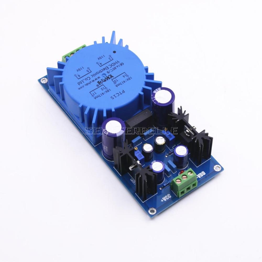 Assembled LM317 LM337 Transformer Output Adjustable Voltage Regulator Preamplifier Power Supply Board For Audio Amplifier