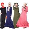 2016 мусульманские женщины одеваются вскользь абая плюс размер кафтан djellaba хлопок длинное платье турецкий дубай