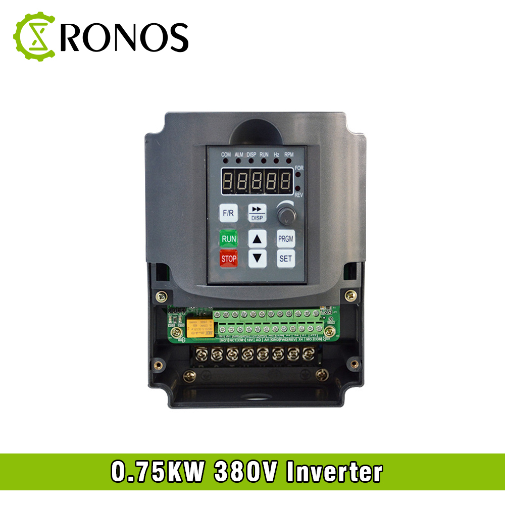 цена на Spindle Motor Speed Control 380V 0.75KW VFD Variable Frequency Drive VFD 3HP Frequency Inverter For Motor