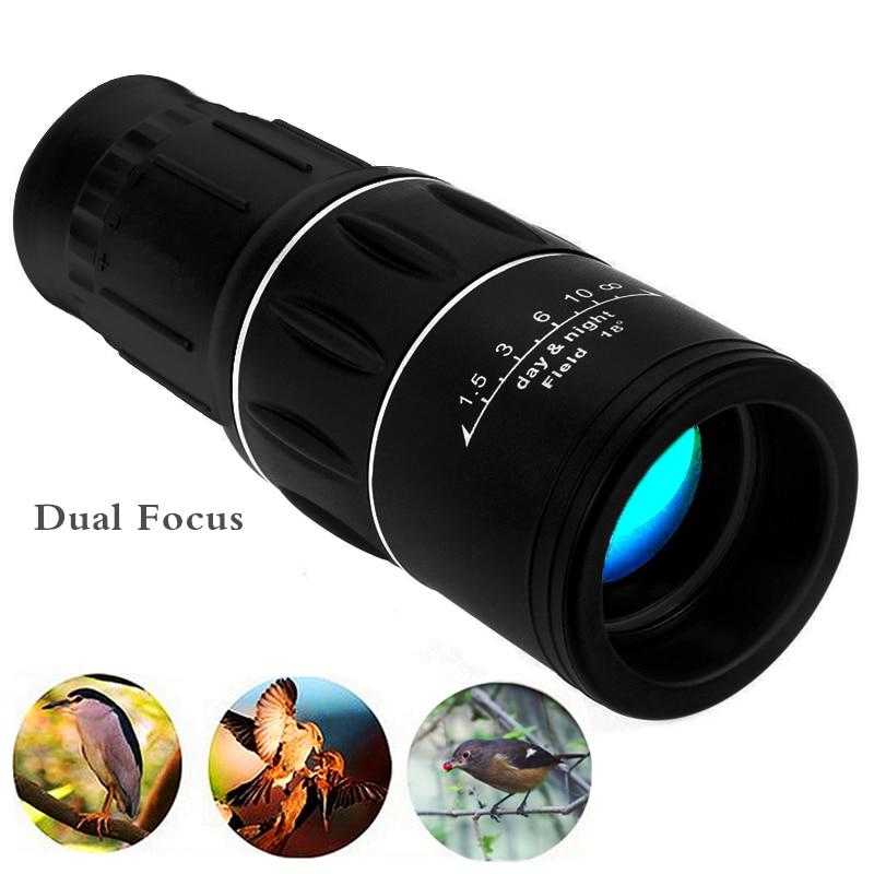 Travel 16x52 Monocular HD Telescope Dual Focus Zoom Powerful Monocular Binoculars Spotting Scope For Bird-watching Gifts Best