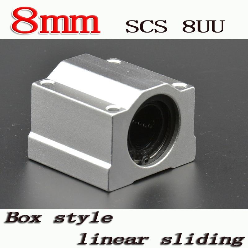 4PCS Ball Bearing SCS8UU 8mm Linear Pillow Block Linear Slides Unit for CNC