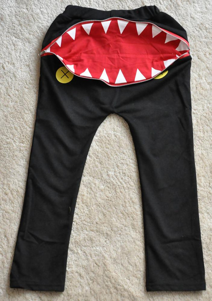 Newest Baby Kids Boys Girls Zipper Design Casual Harem Pants Toddler Loose Trousers 5