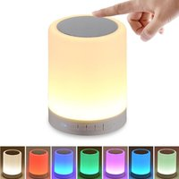 Portable Wireless Bluetooth Speakers Touch Control Color Speaker Bedside Table Lamp Speakerphone TF Card AUX IN