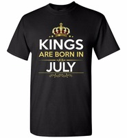 Middle Aged Gildan Men'S Design Crew Neck Short-Sleeve Kings Are Born In July T Shirts