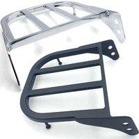 Chrome Black Motorcycle Bike Backrest Sissy Bar Luggage Rack Support For Suzuzki 97 07 Marauder VZ800 12 13 Boulevard C50/M50