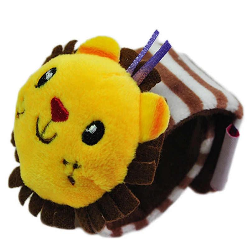 لعبة حزام معصم للرضع للأطفال 13-24 شهرًا بتصميم على شكل حيوانات كرتونية قماش ناعم جدًا ألعاب قطيفة للأطفال عربة أطفال جرس سرير N25