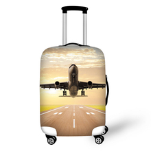 18-30 インチトランクケース旅行スーツケースカバーバッグ 航空機パターン弾性荷物保護カバージッパースーツのための