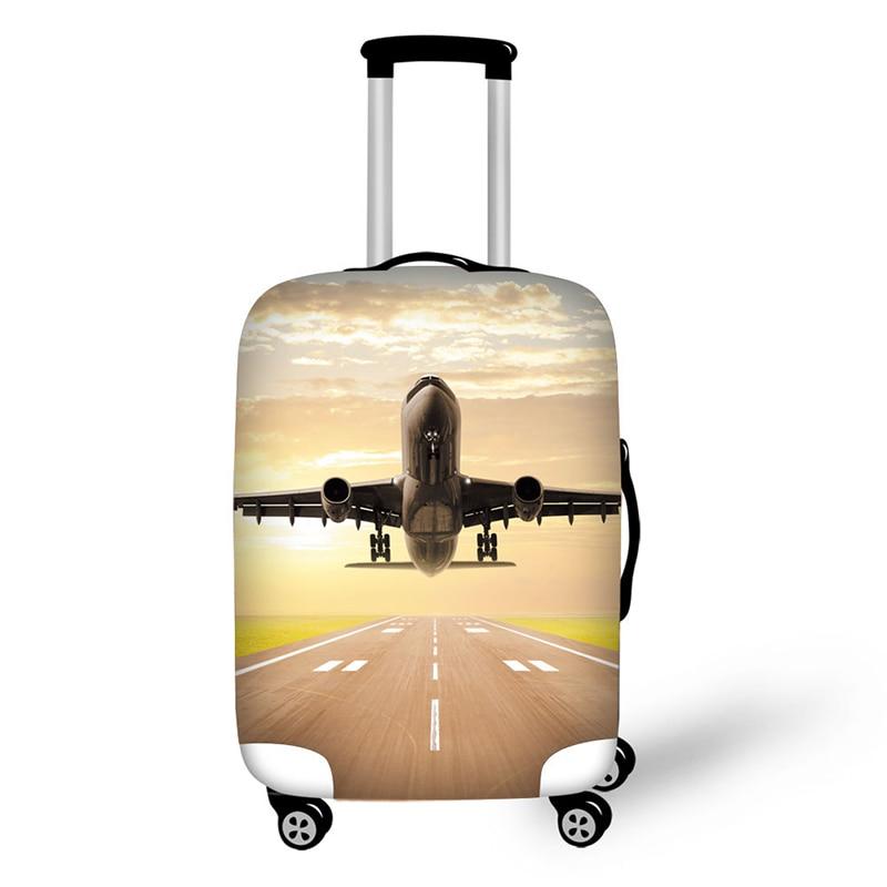 ᗖAvión patrón funda protectora de equipaje elástico cremallera ...