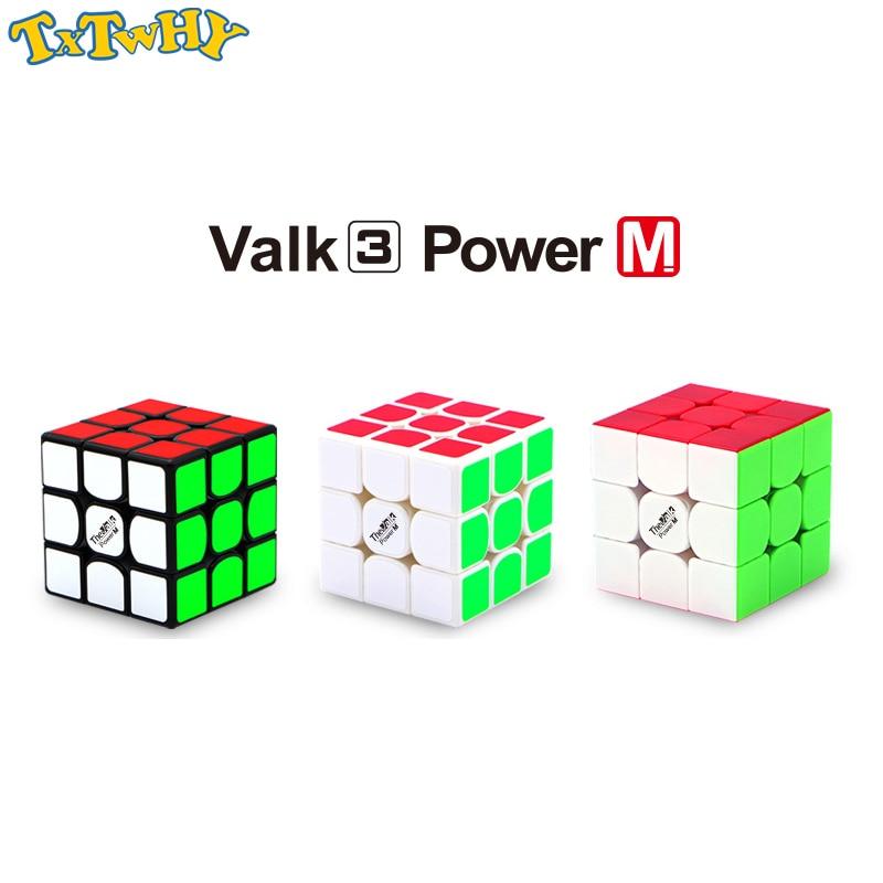 Qiyi mofangge valk3 power M magnet 3x3x3 cube magic speed stickerless valk 3 magnetic professional cubes toys for boys