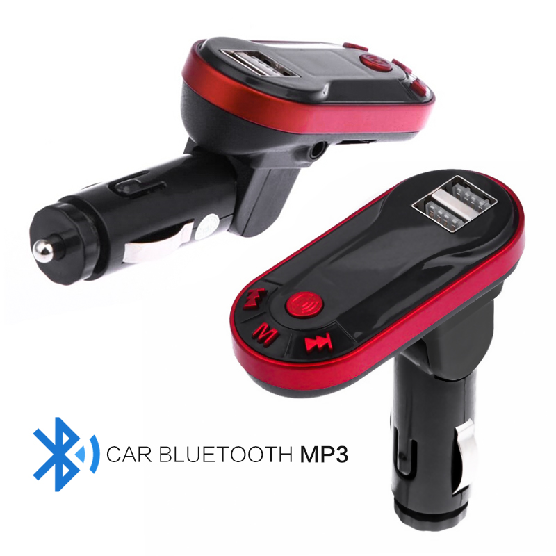 цена на Car Mp3 Player Handsfree USB TF SD Remote Mp3 Car Kit Music Player Bluetooth Wireless FM Transmitter Auto Parts Charger Adapter