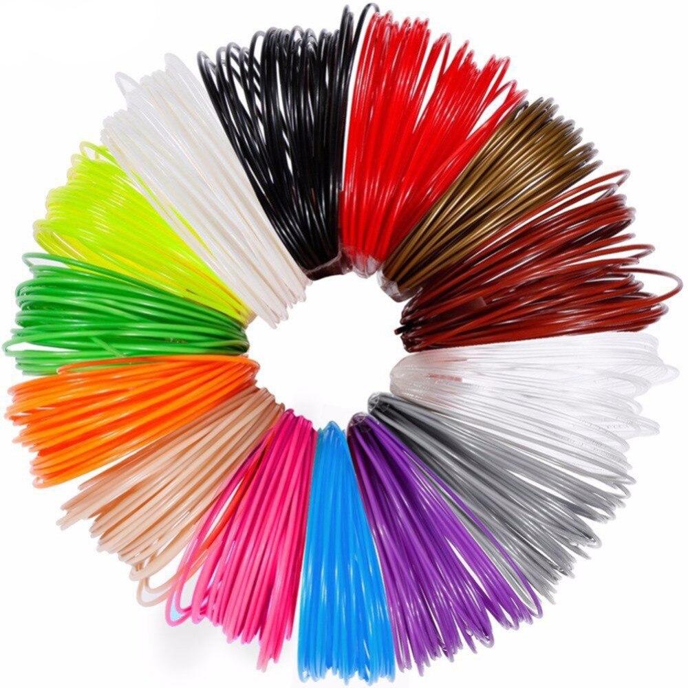 Dikale 3D kalem özel 1.75mm PLA Filament 3D baskı malzemesi 3D yazıcı 12 renk dolum modelleme stereoskopik hiçbir kirlilik 36m