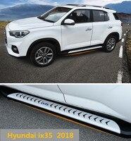Para hyundai ix35 2018 placas de corrida auto barra passo lateral pedais alta qualidade marca novo design original nerf bares