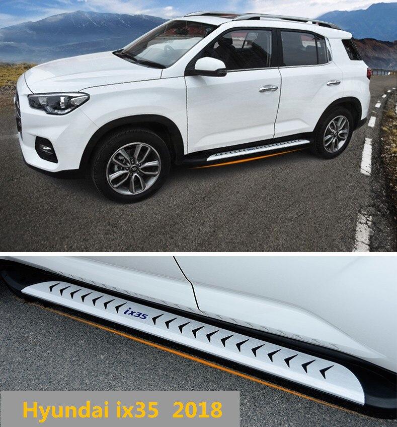 Pour Hyundai ix35 2018 marchepieds Auto côté marchepied pédales haute qualité tout nouveau Design Original Nerf Bars
