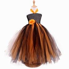 Mignon Filles Robes 2016 New Retail Halloween Princesse Costume Sling Bretelles Fleur Tulle Enfants Tutu Robes Haute Qualité Tenue