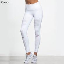 f858e57c6656f Flora M Women Elastic waistband Yoga pants with Mesh Panels High Waisted  Moto Leggings in White Sport Yoga Leggings S/M/L FT025