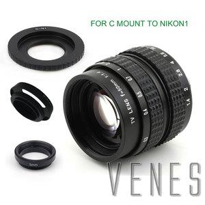 Image 5 - Venes 50mm f/1.4 CC TV F1.4 Lens for Nikon 1 M4/3 for Pentax Q Nex for Fuji FX EOS M A6300A5100 A6000 A5000 A3000 OM DE M10 II