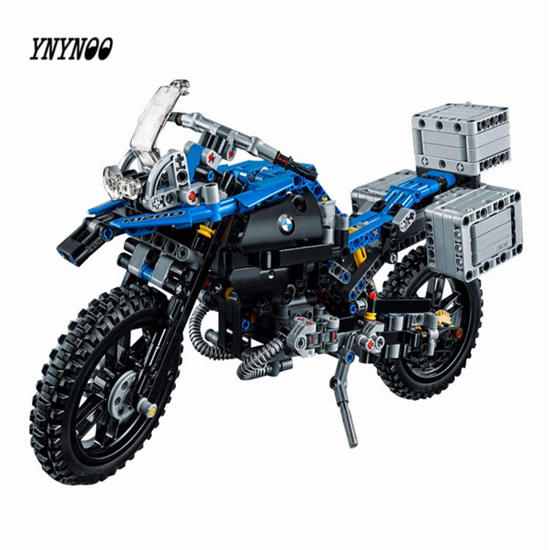 YNYNOO New Lepin 20032 Technic Series The BAMW Off-road Motorcycles R1200 GS Building Blocks Bricks Educational Toys 42063 decoo 3369 technic series the bamw off road motorcycles r1200 gs building blocks bricks educational toys lepin 20032 b11
